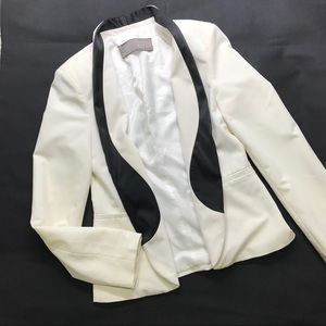 Zara white open blazer